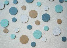 """Tranquil Riverbed"" || 200 Count Teal, Aqua, Tan, & White Circles Confetti || $6.00 Aqua, Teal, Scrapbook Embellishments, For Your Party, Confetti, Circles, Special Events, Count, Shapes"
