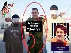 Teens Abductions: Palestinians vs Israelis  Israel is trying to hide the fact that these so called innocent religious teens are actually members of the Israeli Terrorist Forces, who have been terrorizing, and abducting Palestinian children and teen age civilians in the Israeli occupied Al-Khalil region.