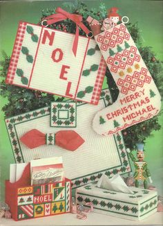 More Christmas Projects For Plastic Canvas by KnitKnacksCreations