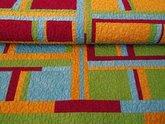 great solid color quilt