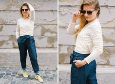People Tree. Carly Chambray Trousers. SS16. www.peopletree.co.uk via Nice to Have Mag