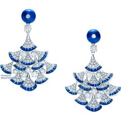 Bvlgari Sapphire n Diamond Earrings