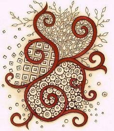 red swirl by Linderesa, via Flickr