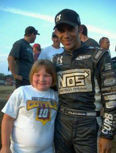 Toni with Bryan Clauson