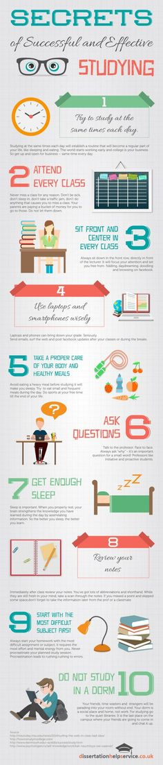 Secrets of Successful and Effective Studying Infographic Repinned by Chesapeake…