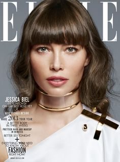 Jessica Biel Dons the Spring Collections for Elle US January 2013 by Thomas Whiteside