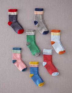 I've spotted this 7 Pack Sock Box Fine Stripe Pack Clogs Outfit, Boys Socks, Calf Socks, Sock Shop, Colorful Socks, Sport Socks, Mini Boden, Kid Styles, Kids Outfits