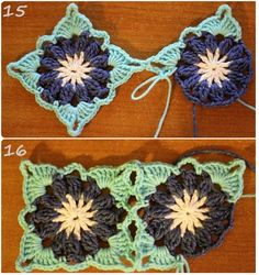 Transcendent Crochet a Solid Granny Square Ideas. Inconceivable Crochet a Solid Granny Square Ideas. Crochet Motif Patterns, Granny Square Crochet Pattern, Crochet Blocks, Crochet Squares, Knitting Patterns, Crochet Granny, Beau Crochet, Irish Crochet, Free Crochet