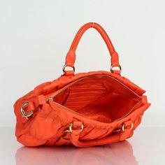 PRADA DESIGNER HANDBAG ORANGE 2518 - Prada Fabric Bags - Prada Bags 98830582d9a78
