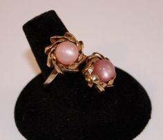 Vintage ring  pink by SVintageCollection on Etsy, $25.00