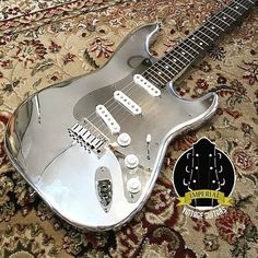 An original 1994 #fender 40th anniversary aluminum #stratocaster.