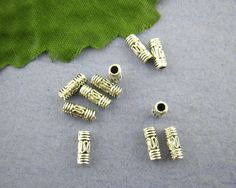 Antique Silver Wire Tube Spacer Bead 4x10mm (approx 85 count per 2 ounces) * Zinc Metal Alloy