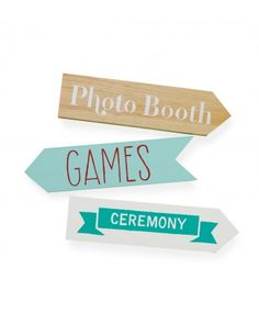 Show guests where to go with these cute directional signs