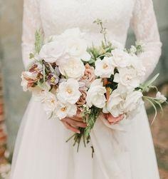 Romantic white wedding bouquet