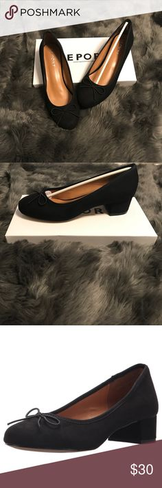 Block heel shoe Super Cute Black shoe with a low block heel. Size 8.5 & new in box. Perfect addition to your closet! Pairs perfectly with boyfriend jeans or slacks  Make an offer :) Report Shoes Flats & Loafers