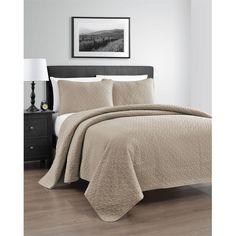 Zaria 3-Piece Lightweight Quilt / Coverlet Set - Ideal for Summer