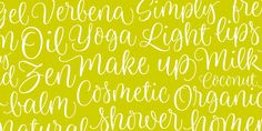 Limon font by Typesenses - Perfect for feminine designs, party invitations, weddings, handmade styles, and more.