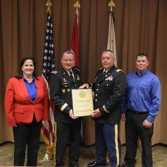#EarthDay is the perfect time to recognize the outstanding job the Missouri National Guard's Environmental Management Office does every day. Yesterday, the team accepted the 2014 Secretary of the Army Environmental Award for Environmental Quality Industrial Installation.