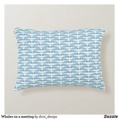 Shop Whales on a meeting accent pillow created by doot_design.