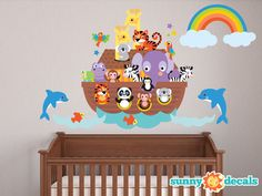 Looking for Sunny Decals Noahs Ark Fabric Wall Decal ? Check out our picks for the Sunny Decals Noahs Ark Fabric Wall Decal from the popular stores - all in one. Nursery Wall Stickers, Wall Decals, Wall Décor, Noahs Ark Nursery, Sea Nursery, Nursery Room, Baby Boy Rooms, Baby Room, Zebras