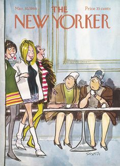 The New Yorker - Saturday, March 30, 1968 - Issue # 2250 - Vol. 44 - N° 6 - Cover by : Charles Saxon