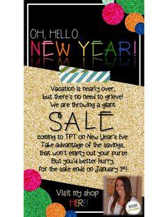 Erica's Ed-Ventures: Happy New Year Sale!