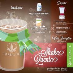 Conheça uma nova receita: #ShakeHerbalife quente! Que delícia! Tente e nos conte o que achou!