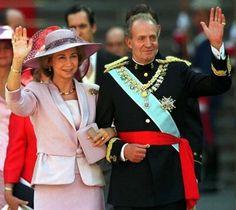Queen Sofia  and King Juan Carlos