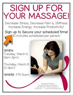 Find new patients for your chiropractic office - doing a business massage event.  Click the link to find out how!  http://www.inception-chiropractic-websites.com/chiropractic-marketing-101.html