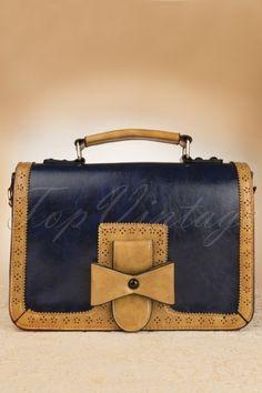 Banned blue brown bow handbag 212 30 12767 20140610 0011w