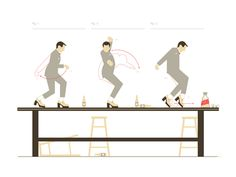 Pee Wee Herman Tequila Dance How-To Art Print. What a HOOT!