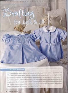 Love the uber traditional baby clothes