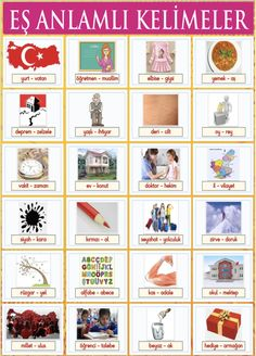 Turkish Lessons, Learn Turkish Language, Second Grade, Homeschool, Teaching, Education, Children, Vocabulary, Turkish Language