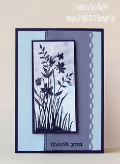 Just Believe against a shaving foam background - Stampin' Up!