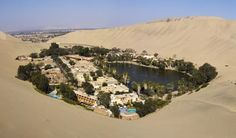 Talk about an oasis in the desert. Huacachina, Peru