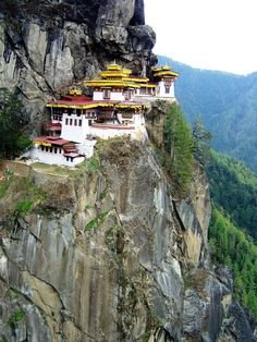 Out trek in Bhutan started at Paro.  The first day was on an acclimatization trek to Taktsang monastery.  It is certainly a place to see - listed among one of the worlds best temples.