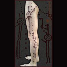 Petroglyphic tattoo, based on the petroglyphs from Tanum, Bohüslan, Sweden