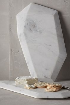 Faceted Marble Cheese Board - anthropologie.com