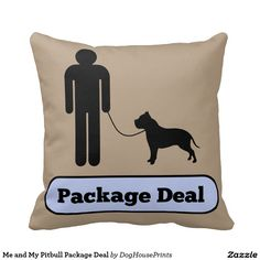 Me and My Pitbull Package Deal Pillows