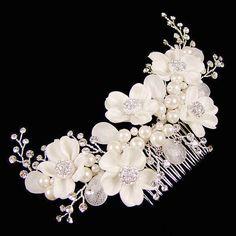 Grote Haarkam met Mooie Bloemen