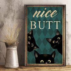 Crazy Cat Lady, Crazy Cats, Alphabet Police, Black Cat Art, Black Cats, Cat Posters, Cat Love, Decoration, Poster Prints