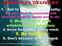 Biblical principles to live by