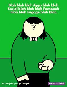Hello | The Indigo Bunting: Art director humor