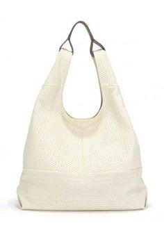 Splendid Bondi North South Hobo Handbag in Ecru {perforated}