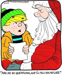 Dennis the Menace « ArcaMax Publishing Christmas Comics, Christmas Scenes, Christmas Humor, Funny Cartoons, Funny Comics, Funny Jokes, Funny Sayings, Dennis The Menace Cartoon, Army Chaplain