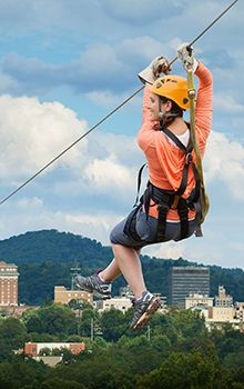 There are so many ways to explore the WNC mountains. On land you can hike or bike. In the water you can raft or swim. How can you explore the mountain forests by air? With a zip line of course! Harness yourself to an exciting adventure and glide through the canopy like a bird.