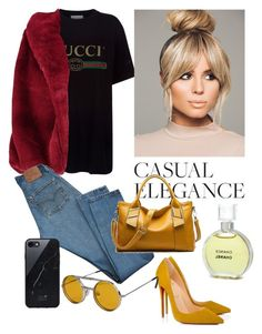 """""""Casual Elegance!"""" by annastyles101 ❤ liked on Polyvore featuring Gucci, Chanel, Boohoo, Christian Louboutin, Levi's, Spitfire and Sefton"""