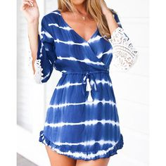 Your tie-dye addiction just got serious 'cause this sleek blue tie dye dress is a must-have. Sexy Summer Dresses, Cheap Dresses, Casual Dresses, Women's Casual, Vestido Tie Dye, Tie Dye Dress, Shibori, Fashion Wear, Fashion Dresses