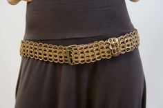 Recycled Pop Tab / Soda Can Belt - Gold & Brown. $42.50, via Etsy.