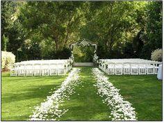 DIY Walkway Wedding Idea